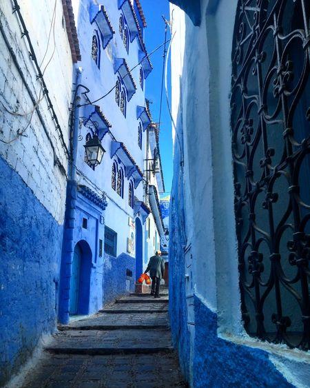 Morocco Architecture Steps Chefchaouen Blue Bluecity