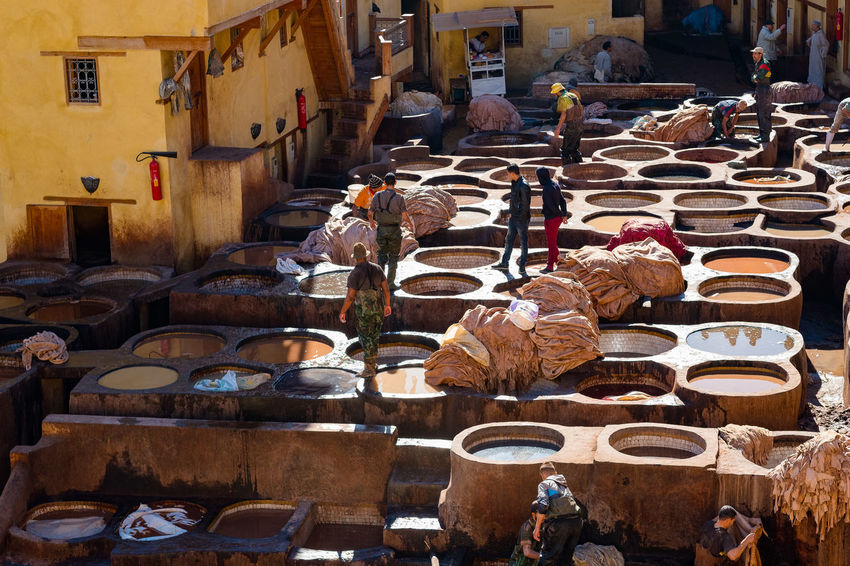 Fes Fez Morocco Medina Moroccan Craftsmanship Morocco Old Town Traditional Craft Travel Colour Craft Craftsmanship  Dye Fez Medina De Fez Moroccan Craft Old Old City Old Tannery Tannery Traditional Craftsmanship Travel Destinations