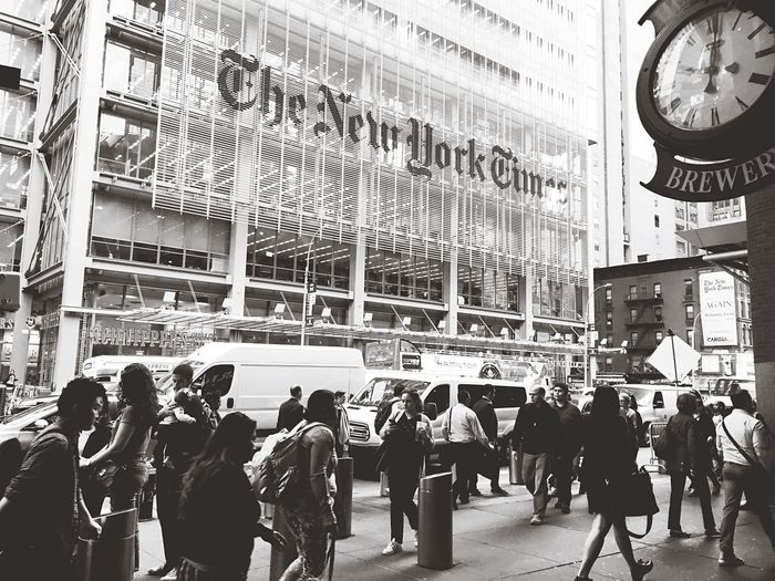 The new york times The New York Times America Manhattan New York Rami Bdiri Group Of People Crowd Large Group Of People Real People Architecture Men Built Structure City Day