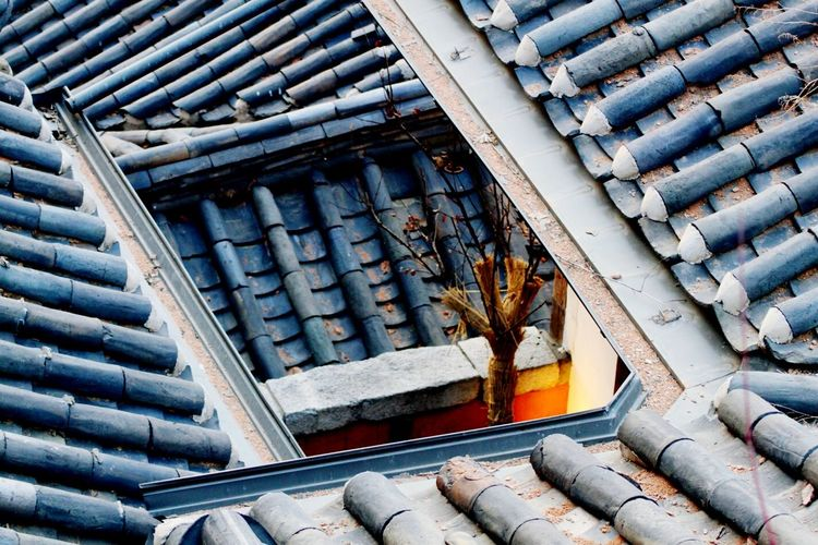 Full Frame Of Traditional House Roofs