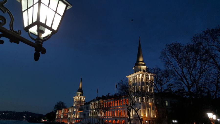 City Architecture Sky No People Tree Night Outdoors Kuleli Istanbul
