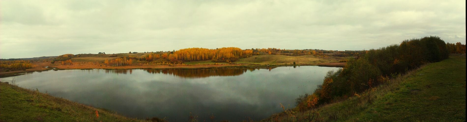 Taking Photos Colors Of Autumn Panorama Water_collection