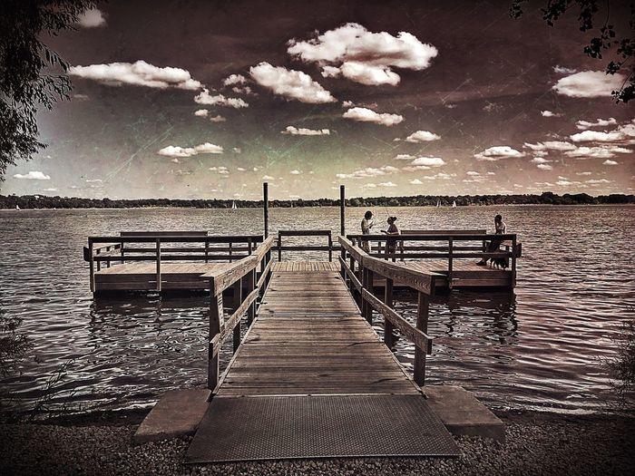 Empty pier over sea