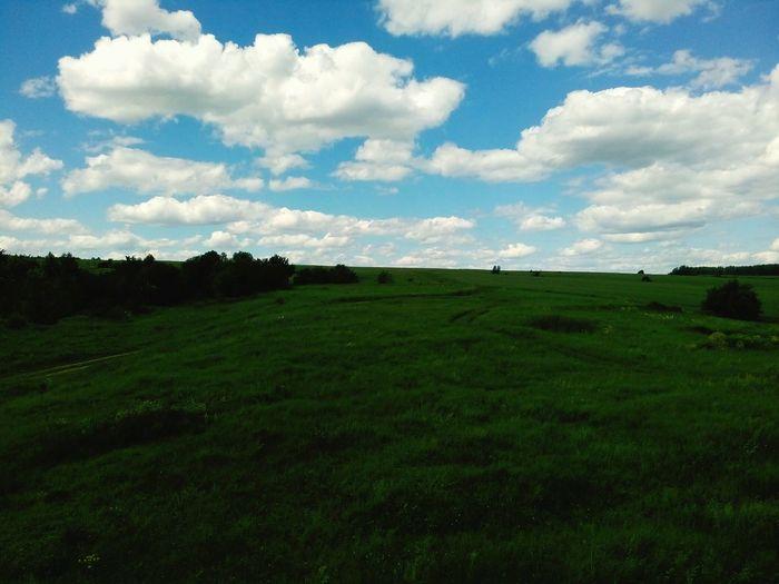Russia Kazan Sky Clouds Sky And Clouds Nature Green Green Nature Blue Sky Blue Summer Beautiful Life Россия казань облака лето лето2016 зелёная трава EyeEm Best Shots - Nature EyeEm Best Shots Eyeem Best Shots - Sky And Cloud