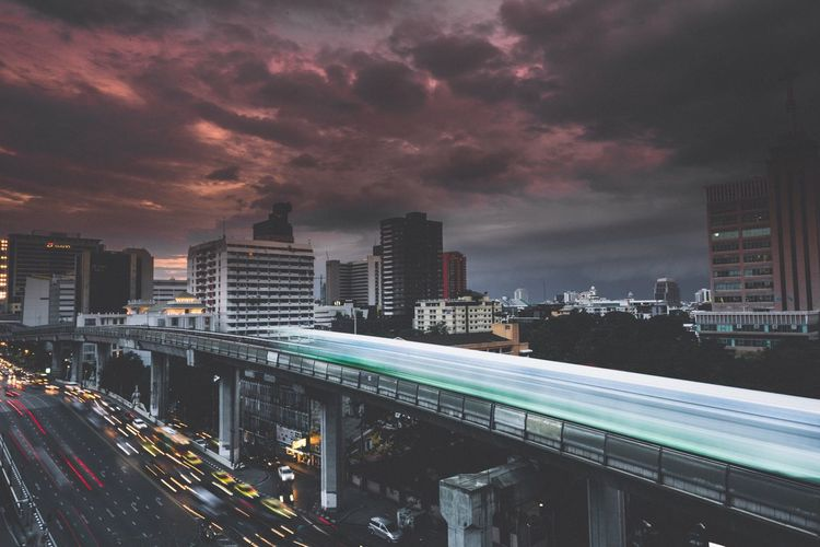 Storm coming Bangkok CBD ASIA Bangkok Thailand Long Exposure Photographer First Eyeem Photo Nature Urban Landscape Cityscapes
