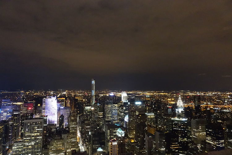 Best View Of NY Empire State Building Lights New York City One Snap=Perfection Roof Top