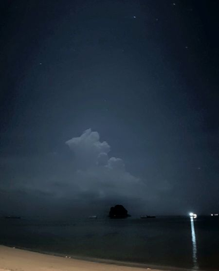 Taking this photo in tioman island,malaysia Beach Pulaotioman Night Lights Sky Stars First Eyeem Photo