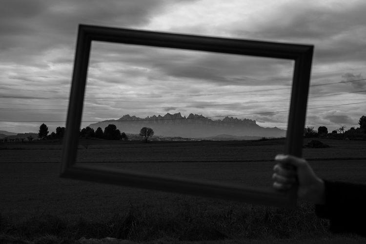 Montserrat Mountain Nikon Nikond7200 Blackandwhite Bnw Soccer Field Sky Cloud - Sky Landscape Dramatic Sky