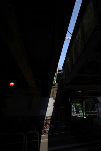 Sunlight Under The Bridge Sky Lighting Equipment Architecture Built Structure Bridge Transportation Bridge - Man Made Structure Connection City Road Street Low Angle View