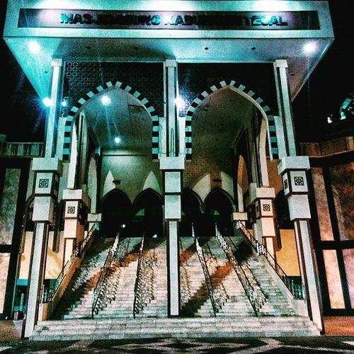 Masjid agung kab. Tegal Slawi Exploretegal Photographone Sony experia building nightshoot
