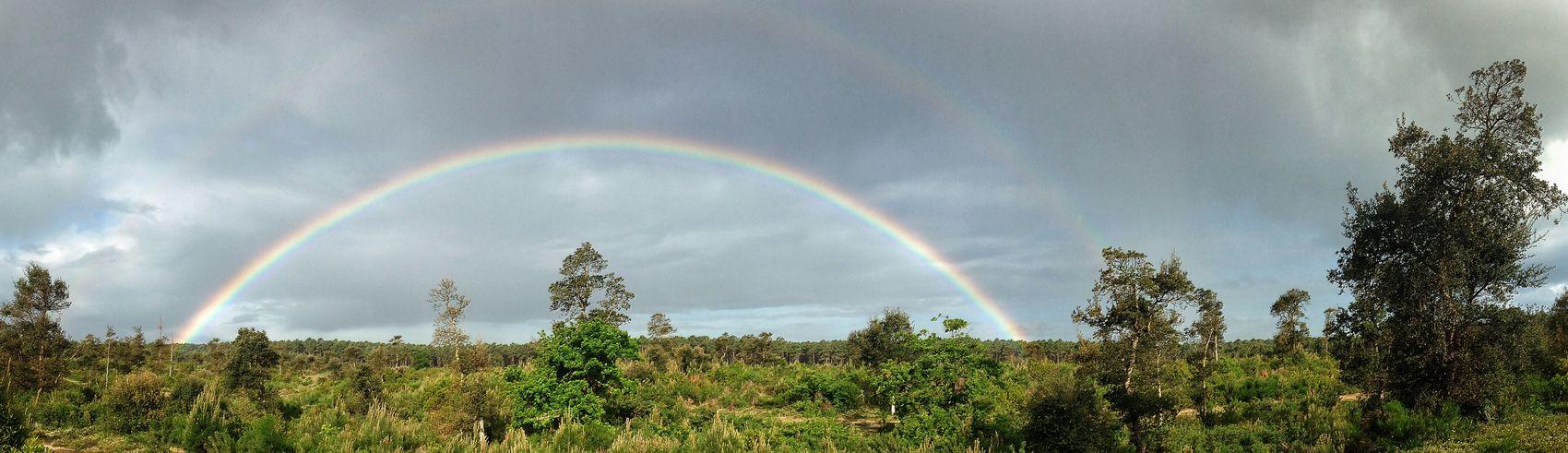 Contis Landes Aquitaine Rainbow arc en ciel Contis Plage