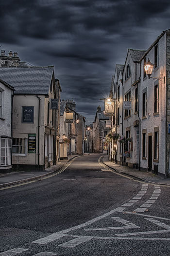 Keep raising the bar. United Kingdom No People Outdoors Travel Destinations England🇬🇧 Cumbria Europe Lights And Shadows HDR Architecture Architecture_collection Street Photography Long Exposure Moody Moody Sky Kirkby Lonsdale Village TOWNSCAPE Town Illuminated Night Time Blue Hour Windy Road Idyllic Idyllic Scenery