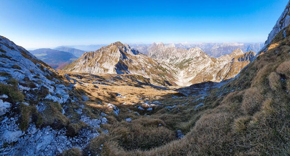 Wide landscape of glacial valley