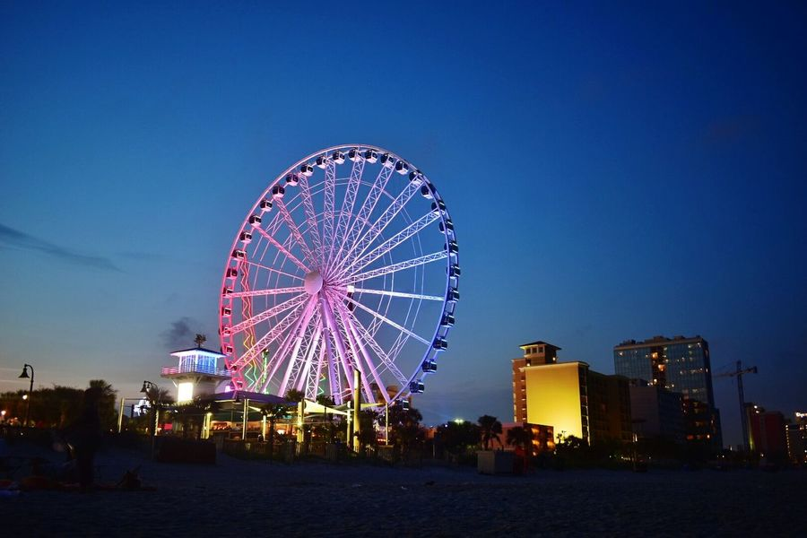 Ferris Wheel Night Sky Amusement Park Ride Arts Culture And Entertainment Multi Colored Beach At Night Boardwalk Night Photography Myrtle Beach SC Sunrise_sunsets_aroundworld Glowing Nightphotography Night Lights Night View Ferriswheel Ammusementpark FestivalBeach Life Beach Walk Beach Night Life Beachlife Pink EyeEm Best Shots