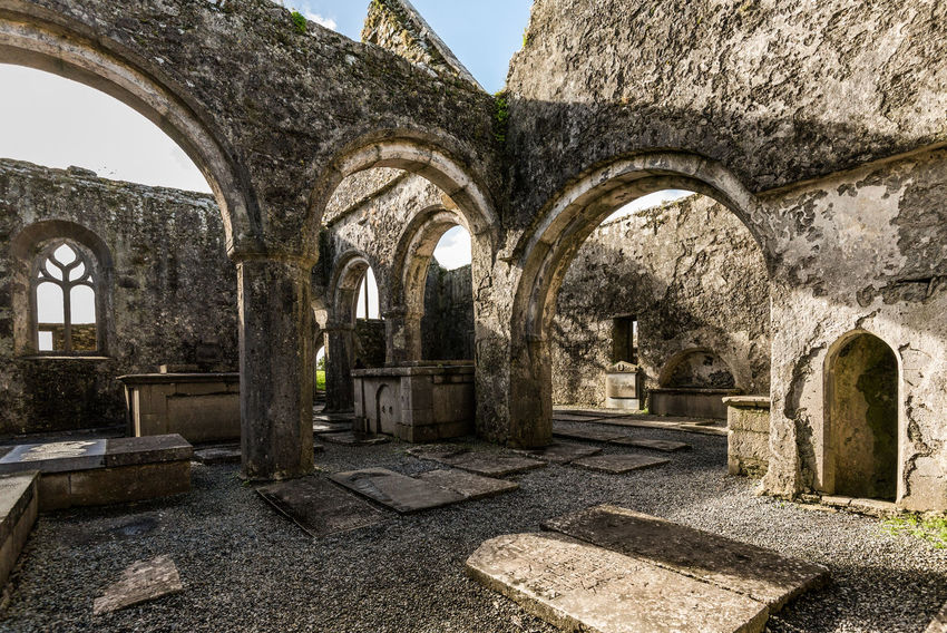 14th Century Abbey Abbey Ruins Arch Architecture County Clare Day History Ireland No People Outdoors Place Of Worship Quin Abbey Religion Ruins Sky Sunny Travel Destinations