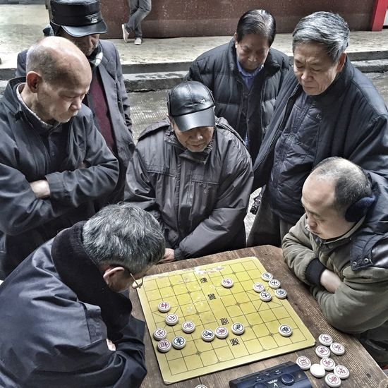 IPhoneography Iphoneonly IN THE STREETS Street Photography People Chinese Chess