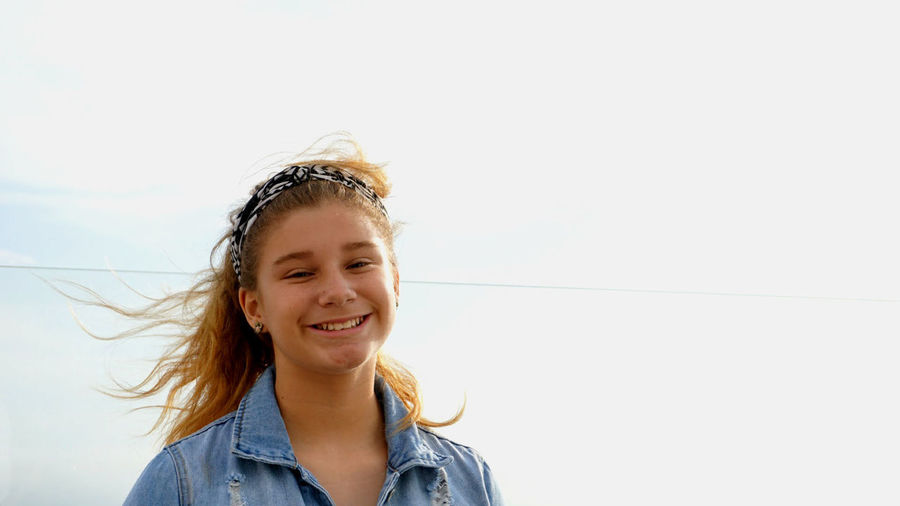 Portrait Happiness Smiling Child Childhood One Person Girls Females Emotion Looking At Camera Casual Clothing