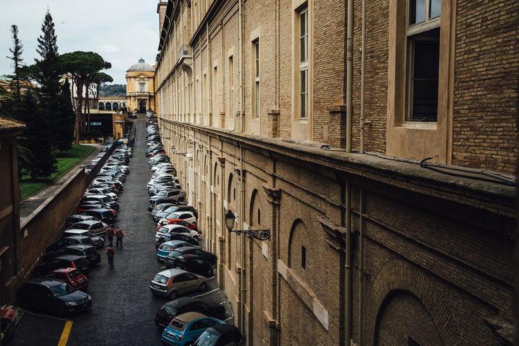 Cars Moving Around Rome VaticanCity Architecture Building Exterior Built Structure City Parking Street The Way Forward Transportation vanishing point Vatican Museum