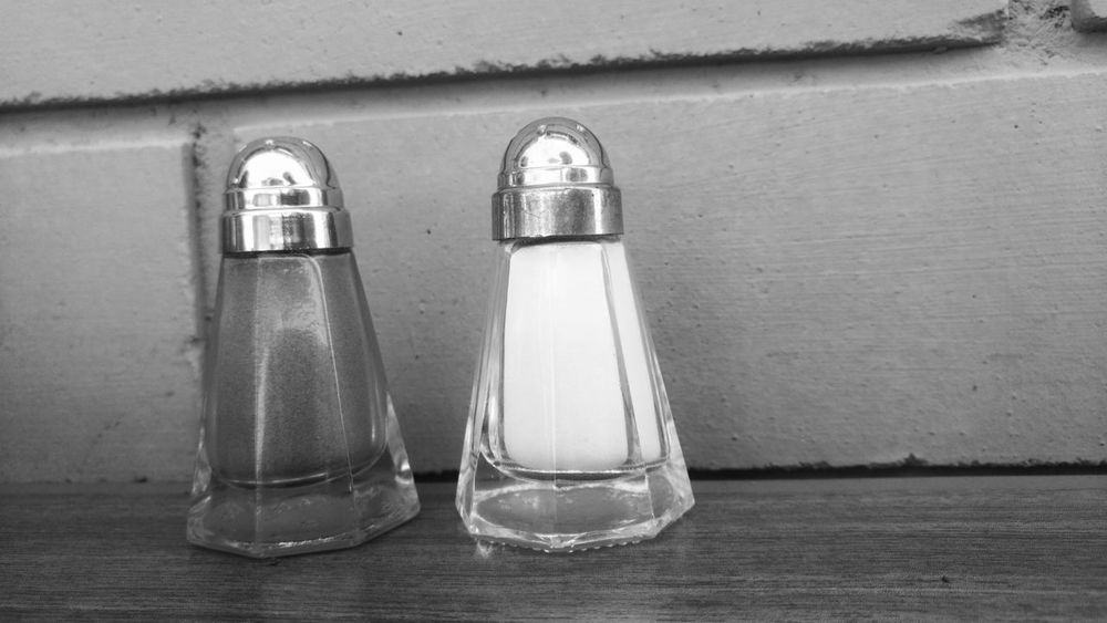 Salt Shaker Salt - Seasoning Pepper - Seasoning Indoors  Food And Drink No People Close-up Food Day Diner Diners The Street Photographer - 2017 EyeEm Awards The Places I've Been Today Eye Em Best Shots -Black +White Taking Pictures Taking Photos EatOut