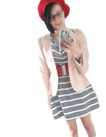Selfie Self Portrait Me Dress Glasses Happy Pretty