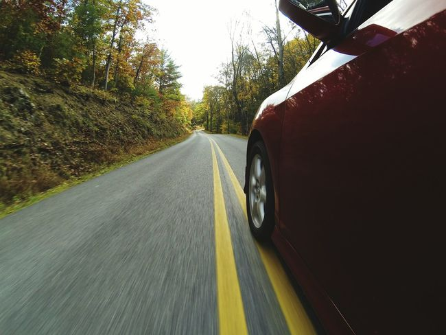 Crossing the line. The Drive Road On The Move Journey Car Day Driving Outdoors Low Section Gopro Motion Fall Colors No People Autumn Sunlight Mode Of Transport Wide Angle Crossing The Line Vehicle Automobile Backroads