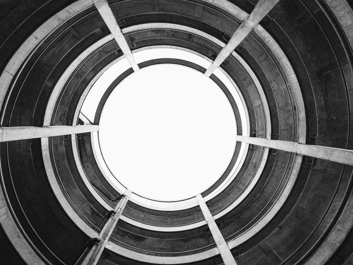 Parkhaus Architecture Black And White Dramatic Angles Iphone 5 Mobile Photography Parking Lot