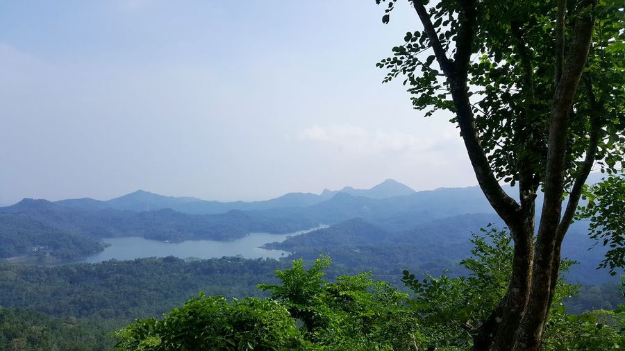Nice view in kalibiru jogjakarta,indonesia Jungle Hills Lake View Lake Mountain View Vacation Vacations