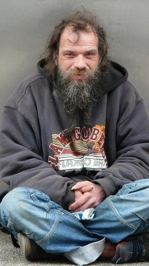 A homeless men