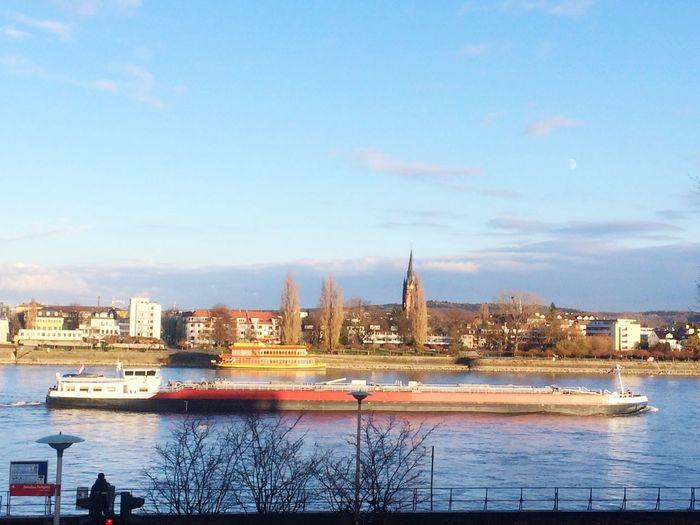 Rhein River , Bonn, Germany