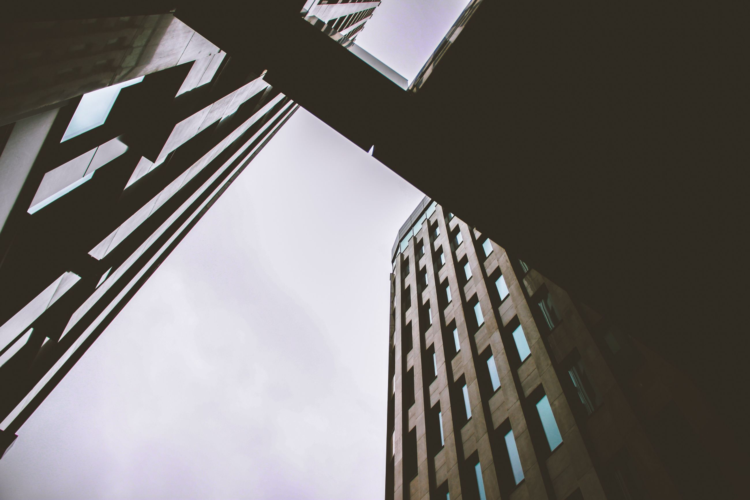 low angle view, built structure, architecture, building exterior, sky, no people, day, city, outdoors