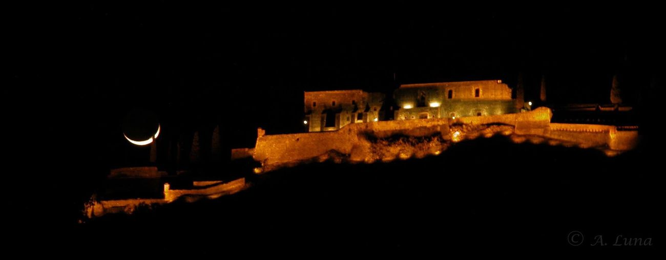 Castle Of Hostalric. architecture EyeEm Night Photographs Moon Peoples Of Catalonia History Of Stones Catalonia Is Not Spain Girona.