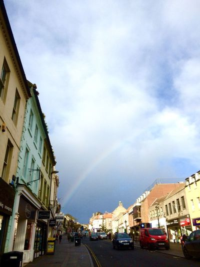 Rainbow Streetphotography IPhoneography Berwickupontweed Berwick Moody Sky And Clouds Clouds And Sky Winter Marygate Shopping ♡