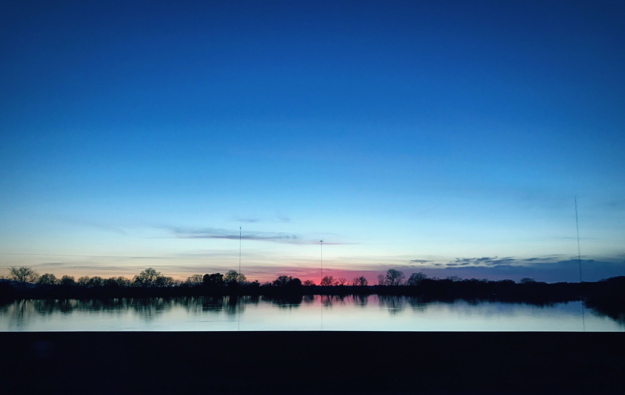 reflection, nature, blue, water, beauty in nature, tranquility, sky, scenics, no people, outdoors, tranquil scene, sunset, growth, landscape, day