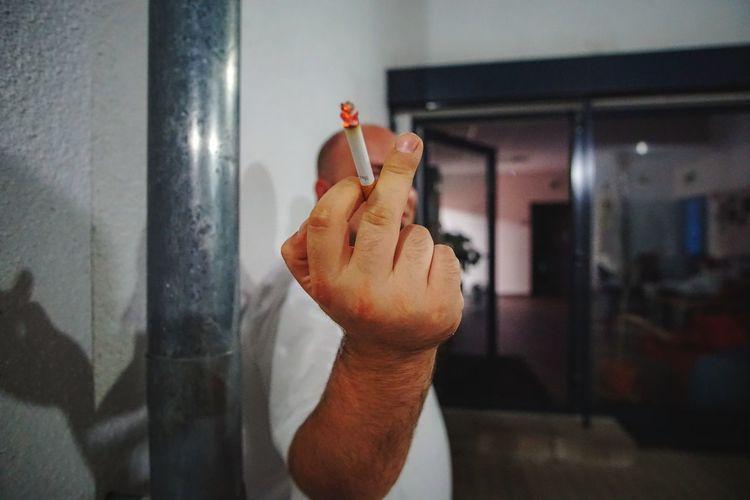 work EyeEmNewHere School Mittelfingerhoch Cigarette  Working Human Hand Close-up Fingernail Human Finger Finger Index Finger Obscene Gesture