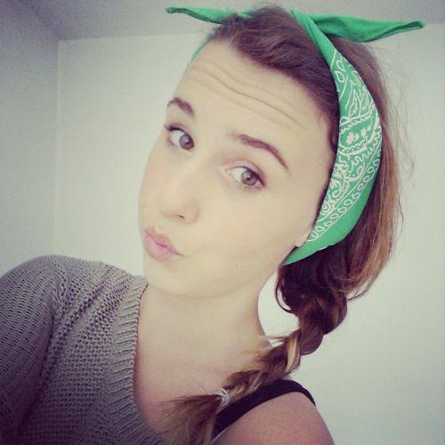 Me Girl Besties Green Bandana Green Eyes Follow For Follow Likes For Likes