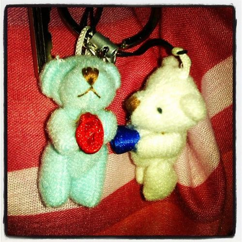 New Tiny Teddy a present from my sister Delighted  Happy Keyring Phonecharm  phone charm charity children awareness autism teddy toys small miniature teddybear tiny