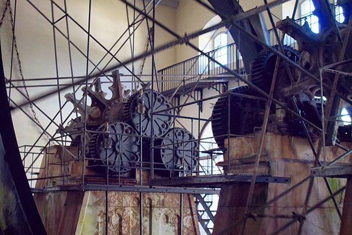 Waterwheel . Beautiful Architecture and Design . inside the AlteSaline OldSaltWorks SaltRefinery . Salz Salt Museum . Badreichenhall Bavaria Bayern Deutschland Germany . Taken by my Sonyalpha DSLR Dslt A57 . متحف ملح بايرن المانيا