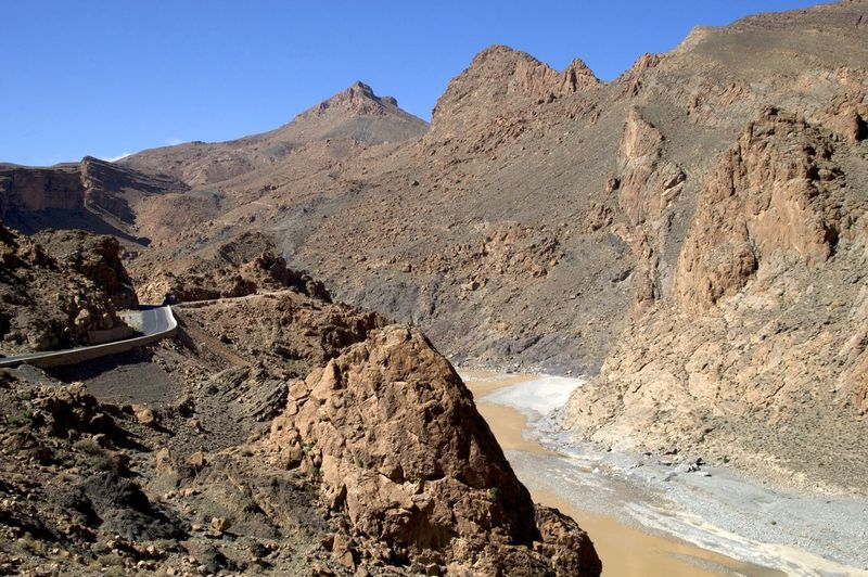 Ziz valley, Errachidia in Morocco. Morocco MoroccoTrip North Africa Africa Arid Climate Beauty In Nature Climate Day Environment Eroded Errachidia Formation Mountain Nature No People Outdoors Rock - Object Rock Formation Solid Tranquil Scene Tranquility Travel Destinations Valley Ziz Ziz Valley