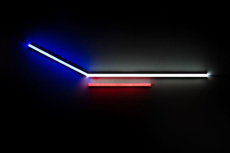 Close-up of illuminated lighting equipment