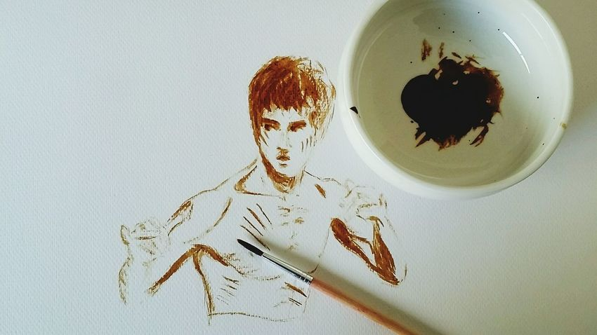 Drawing Draw By Me Draw Soja Sauce Soja Bruce Lee Brucelee Legende Kungfu  Art, Drawing, Creativity Art Art And Craft Artphoto Sketch
