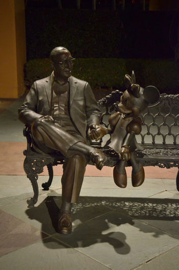 Disney Animation Studios Disney Animation Studios Full Length Hollywood Minnie Mouse Movies Park Bench Statue Walt Disney