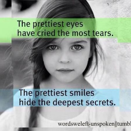 The Prettiest Eyes have Cried the most Tear . The prettiest smiles hide the deepest secrets. I love this quote ?