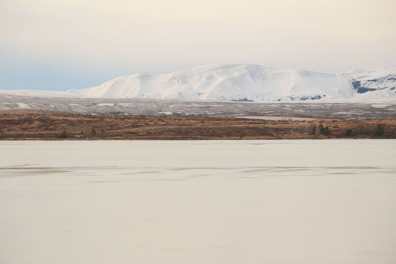 White Water Snow Cold Temperature Winter Mountain Sand Nature Reserve Lagoon Iceland