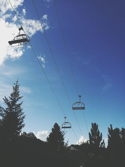 Cable Tree Sky Low Angle View Silhouette Nature Outdoors Beauty In Nature Ski Lift Mountain Adventure Mountainlandscape Summertime Hikingadventures Capture The Moment Mountainlife Taking Photos Scenics Landscape Eyem Best Shots Photography Chairlift Lost In The Landscape
