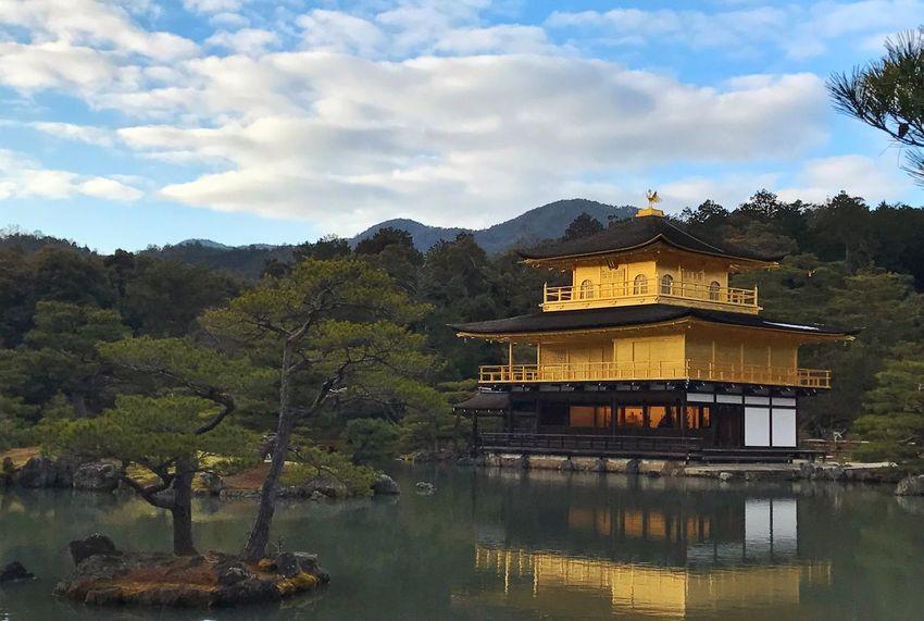 Japan Kyoto Kinkakuji Architecture Reflection Golden Pavilion