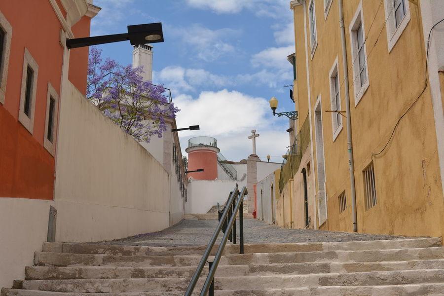 Outdoors No People Sky Day Architecture Lisboa Portugal Lisbon Street Photography Cityscape Built Structure Building Exterior Fotografia De Rua Colors