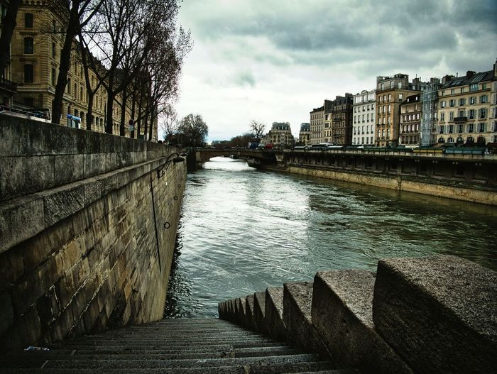 By the river Paris Architecture Built Structure Building Exterior Water Sky City Nature River Day Bridge Outdoors Cloud - Sky