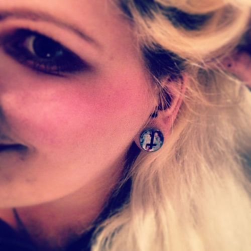 New #Plugs yeehaaw <3 Thx to plug_club! Plugclub Strechedears Me Girl Cross Blonde Plugs Piercings Igers Instagood