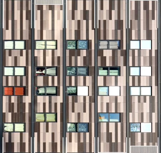 Abstract striped facade