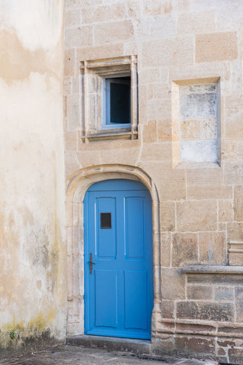 Medieval Architecture Medieval Renaissance Old The Past Stone Wall Building Exterior Built Structure Architecture Building Door Entrance Window No People Blue Closed Day Outdoors Wall - Building Feature House Doorway Staircase Residential District History Wall